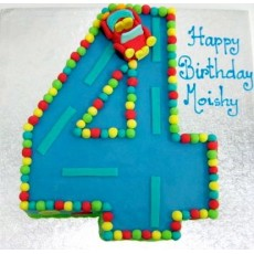 Number shaped iced cakes