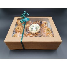 Gift box with Danish pastry selection and Mazal tov biscuit