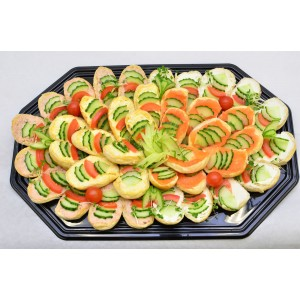 Open Bridge Roll Platter