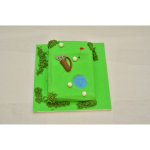 'Hole in one' cake