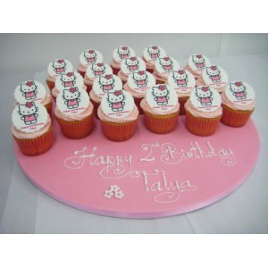 Photo Cupcake Cake Hello Kitty (inc 10 cupcakes)