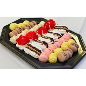 Mini Meringue and Macaroon Dessert Platter