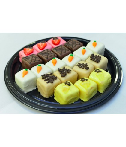 Buttercream Coated Cake Squares Platter