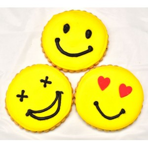 "Smiley biscuits (3"" diameter)"